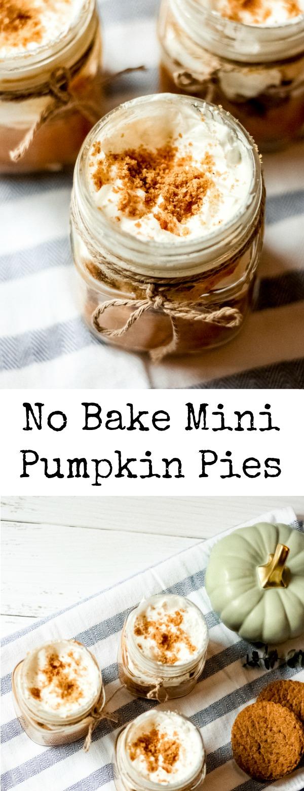 No Bake Mini Pumpkin Pies (in a jar)!