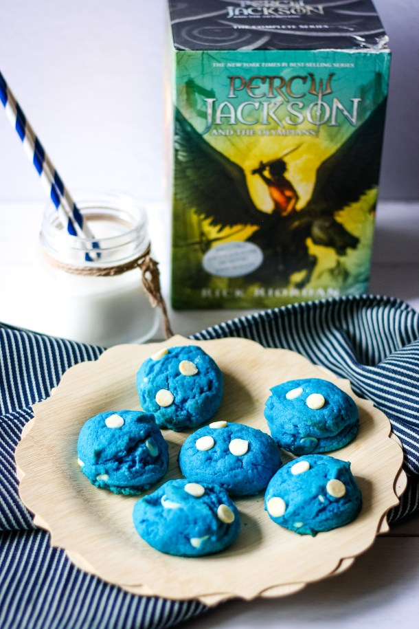 Percy Jackson's Blue Chocolate Chip Cookies