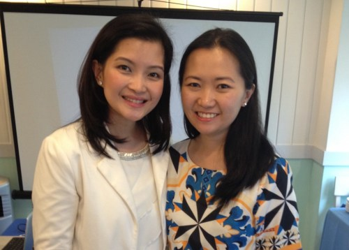Sharleen and Tammy, the Moms who brought Mustela here to the Philippines.