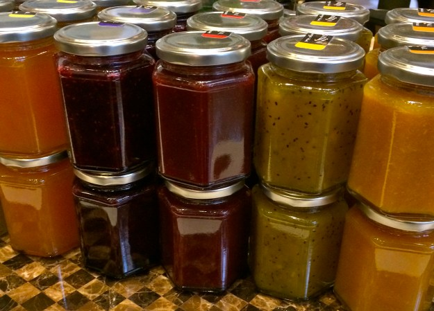 If you would like to bring home the different jams and jellies, all you have to do is ask.