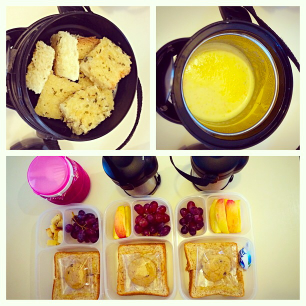 Sometimes the kids are very specific, and they request certain dishes in their lunch box.