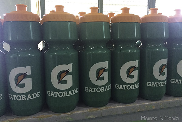 Thank you Gatorade for sponsoring our drinks and reusable water bottles!