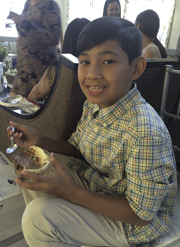 Diego got to enjoy his ice cream in a waffle cone cup. This is definitely an investment worth making. Look at that smile!