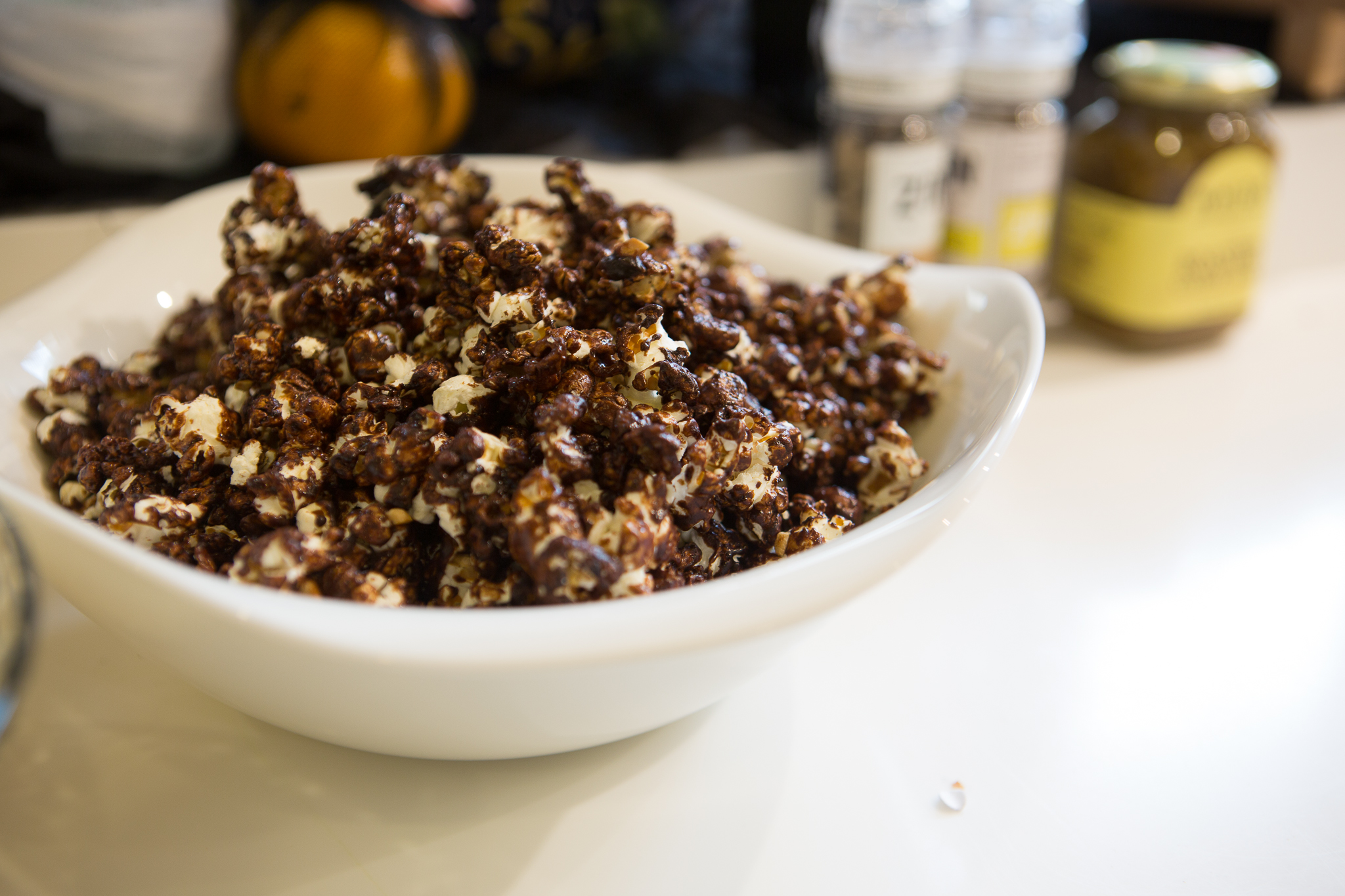 And Coco Cayenne Popcorn made for the mommas. This healthy version is made with coco sugar from Coco Natura.