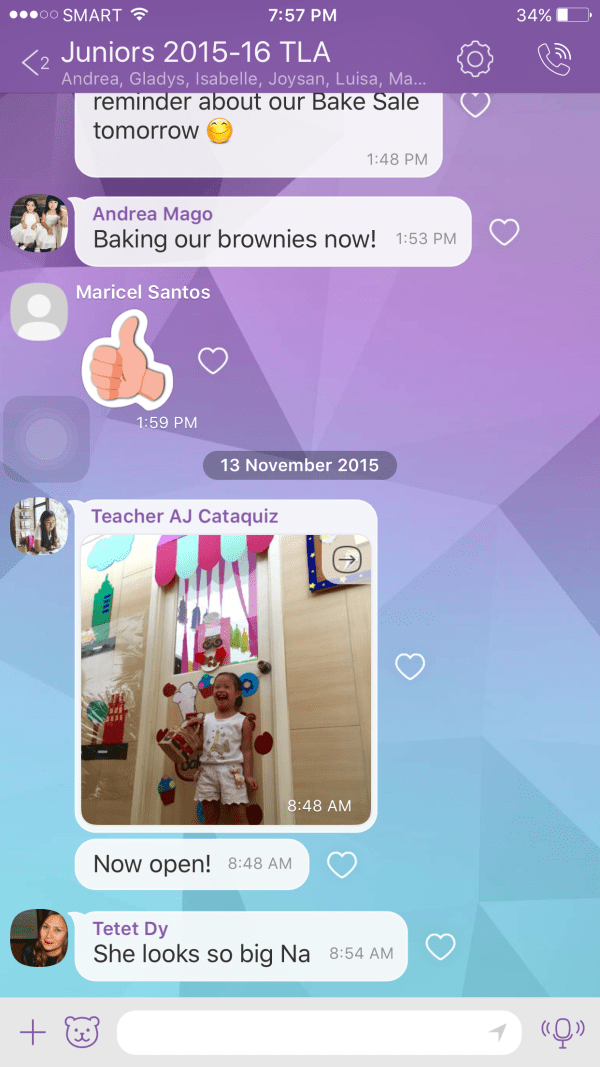 """I love the beauty of Gelli going to a school where parents, teachers, and administrators are all on one thread in a VIBER group. Remember """"It takes a Village!"""""""