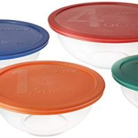 Glass Mixing Bowl Set with Lids