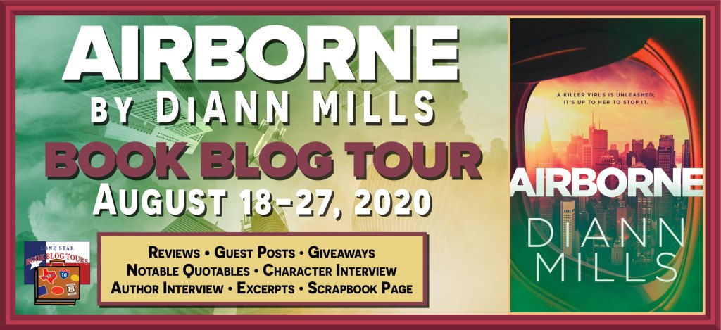 Blog tour banner for Airborne by DiAnn Mills