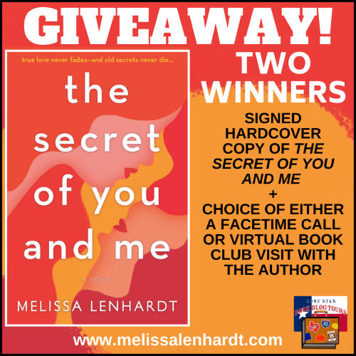 Giveaway graphic for The Secret of You and Me