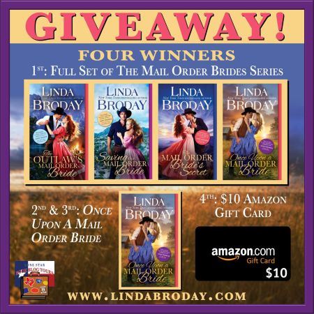 Giveaway prize image for Once Upon A Mail Order Bride