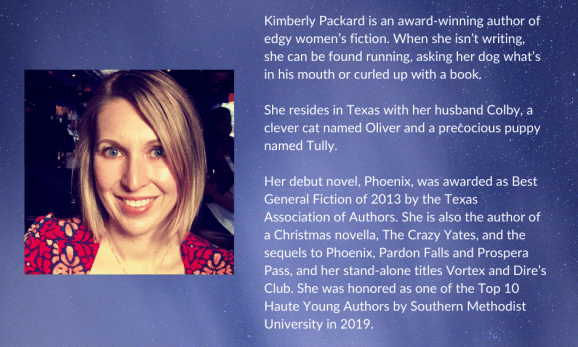 Biography of Kimberly Packard, author of Dire's Club