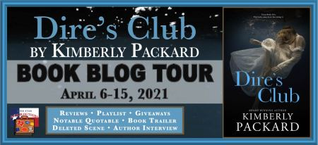 Blog tour banner for Dire's Club