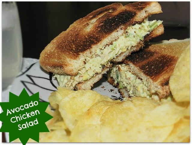 Avocado Chicken Salad Sandwiches