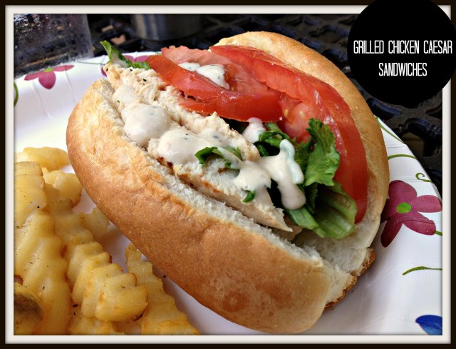 Grilled Chicken Caesar Sandwiches