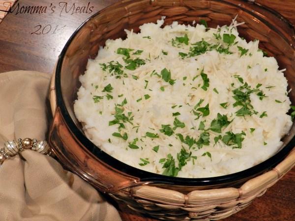Mashed Cauliflower & Potatoes