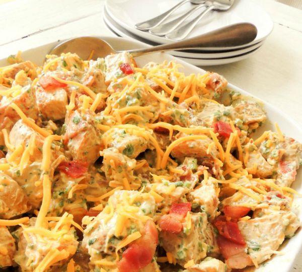 Grilled Paprkia and Cilantro Potato Salad