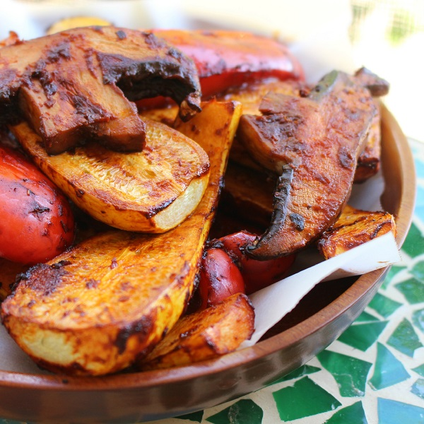 Grilled Vegetables Homemade Habanero Adobo Sauce