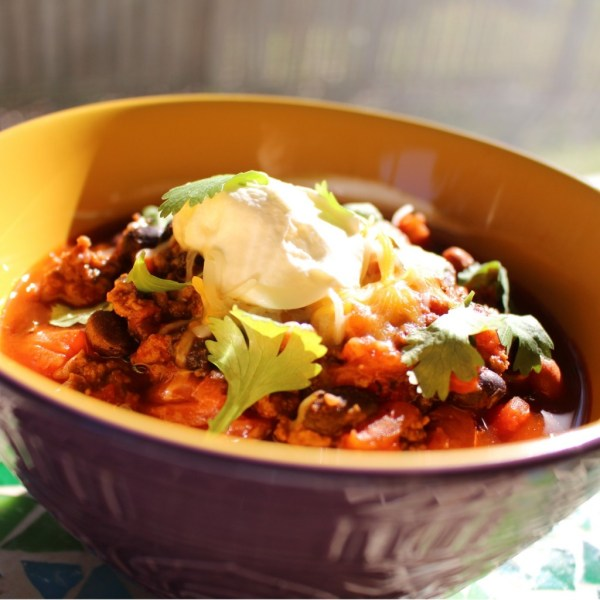 Hearty Chili with Beef Beans and Roasted Red Pepper Chili