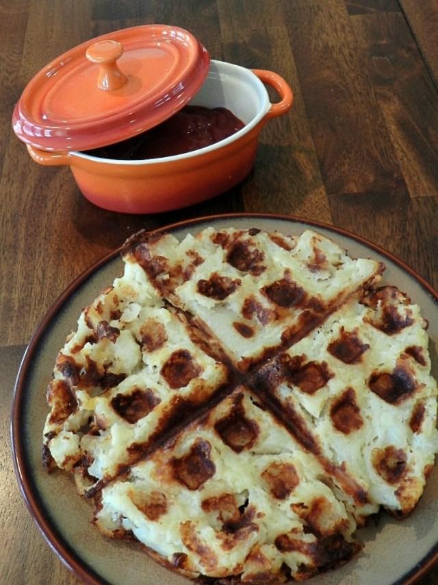 Cheesy Bacon Waffles