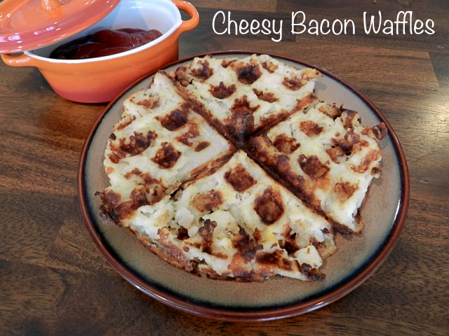 Cheesy Bacon Waffles