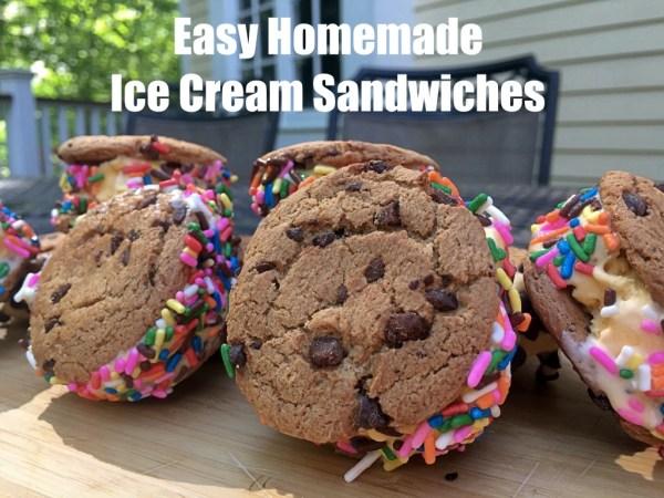 Easy Homemade Ice Cream Sandwiches FB