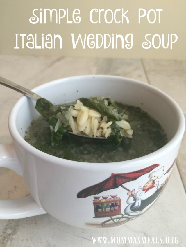 Simple Crock Pot Italian Wedding Soup