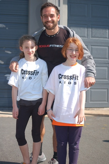"""While Buds and I were out in The Valley, Monkey and Friend were getting their picture taken with the Rich Froning, The Two-Time Fittest Man In The World, or """"Chris' CrossFit Idol."""""""
