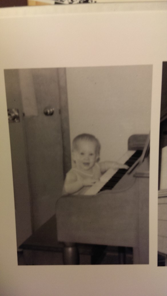 Cute, sweet baby Jennie, playing the piano.