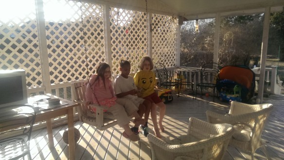We loved the porch swing!