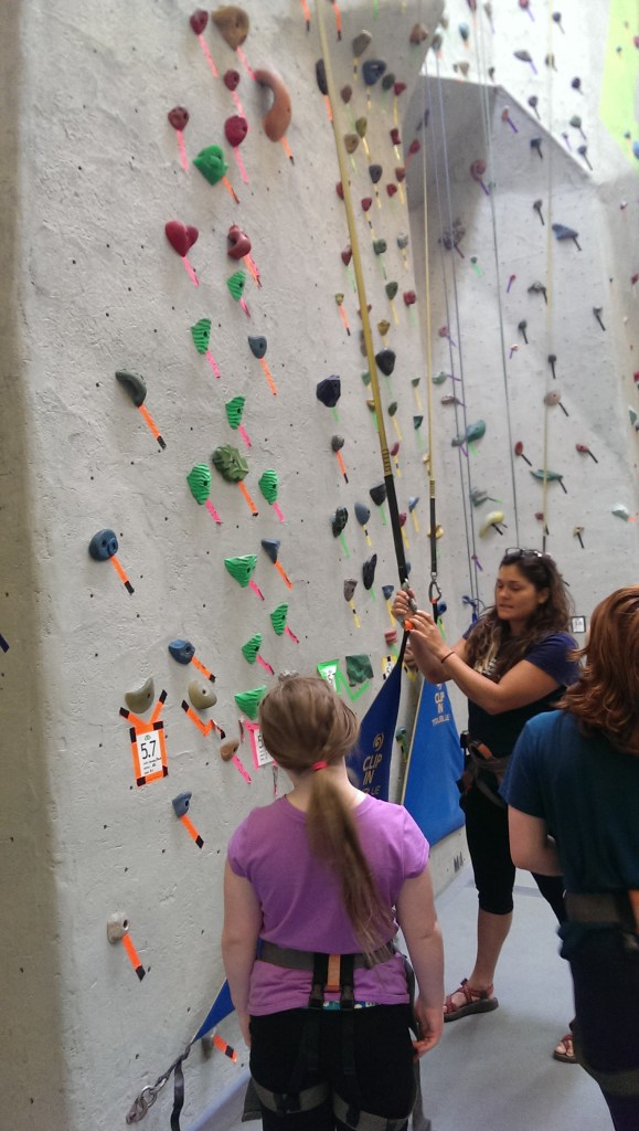 The auto-belay system is really cool.