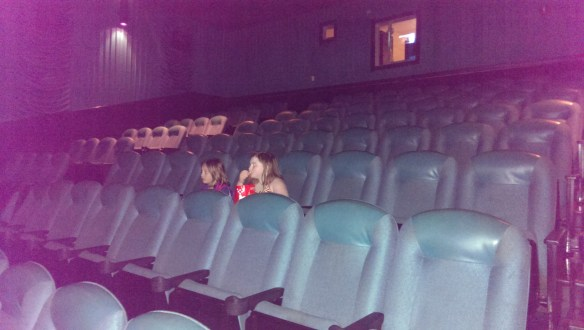 We started out with the whole theater to ourselves.