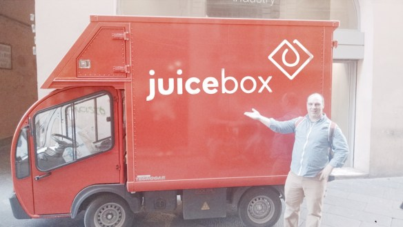 """Buds """"Juiced Up"""" the truck."""