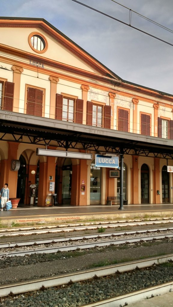 Our last view of the Lucca Train Station.