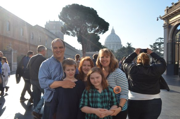 Family shot on The Vatican Tour