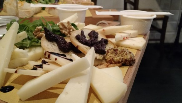 Show-off pictures from Florence. This was a cheese plate.