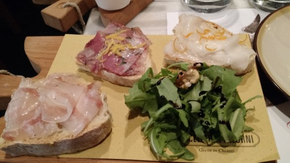 OMG, showoff pictures from Florence. This was amazing citrus-y lardo on crusty bread.