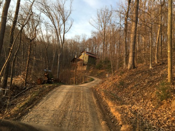 The house was way up a gravel road.