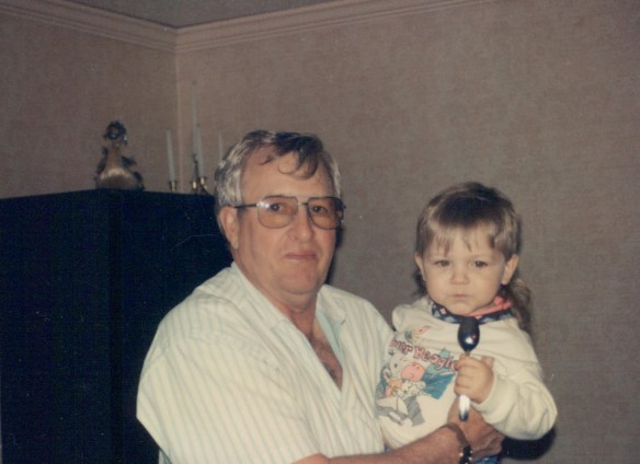 Gramps and Great-grandson Nick.
