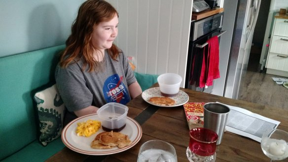 When the youngest decides to make you breakfast in bed, and then she tells you she would also have done coffee if she knew how.