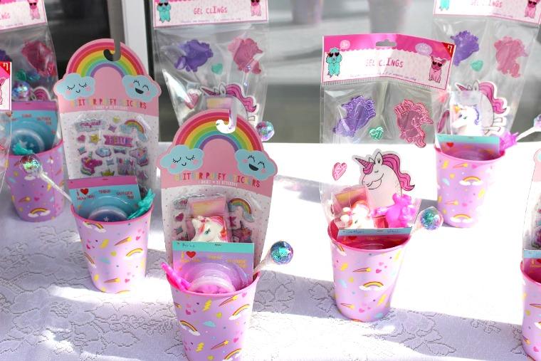 Unicorn and Rainbow party favor- www.mommininapinch.com/Unicorn-rainbow-birthday-Party/