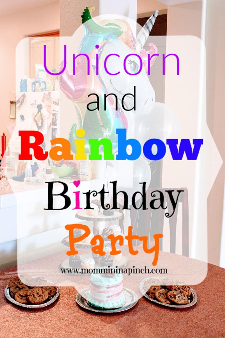 Unicorns and Rainbow Party- http://www.mommininapinch.com/unicorn-rainbow-birthday-party/