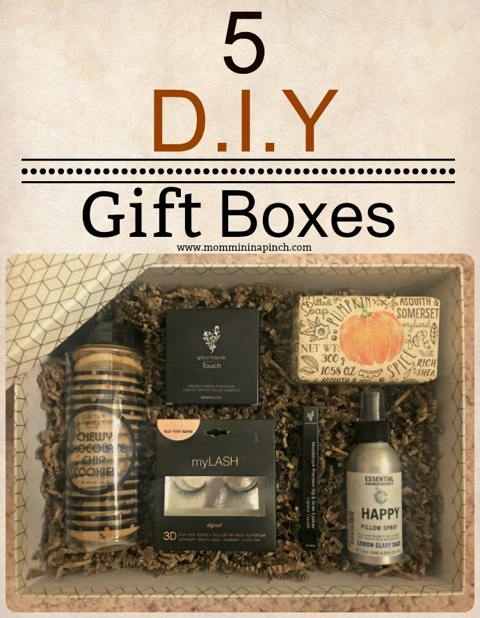 DIY Gift Boxes- http://www.mommininapinch.com/create-the-best-gift-box-set/ #gifts
