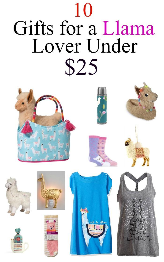 10 llama gifts under $25- www.mommininapinch.com