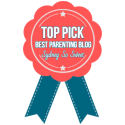 Top Pick Best Parenting Blog from Sydney so Sweet