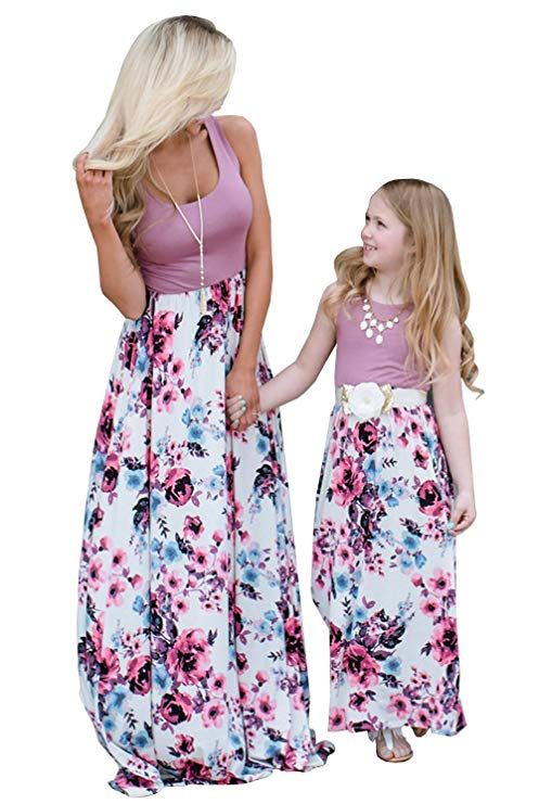 sleeveless maxi mommy and me dresses http://www.mommininapinch.com/mommy-me-dresses/