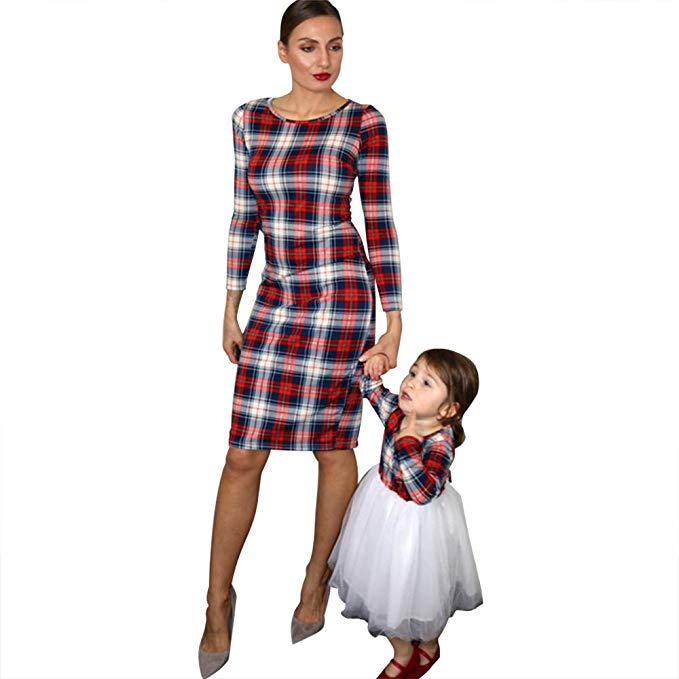 plaid mommy and me dresses http://www.mommininapinch.com/mommy-me-dresses/