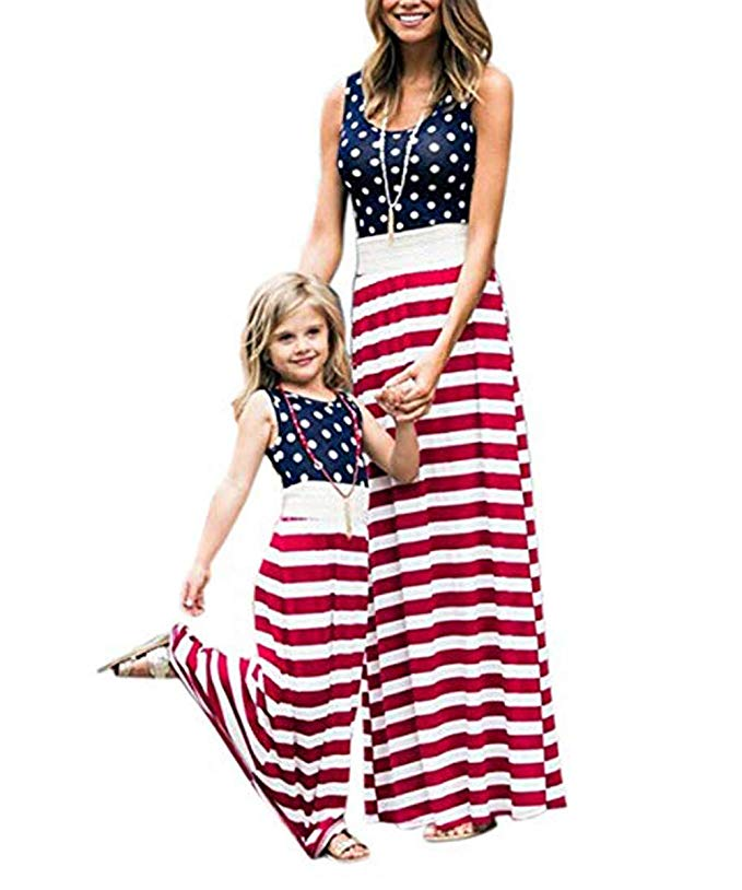 American Flag Maxi dress- http://www.mommininapinch.com/mommy-and-me-fourth-of-july-outfits/
