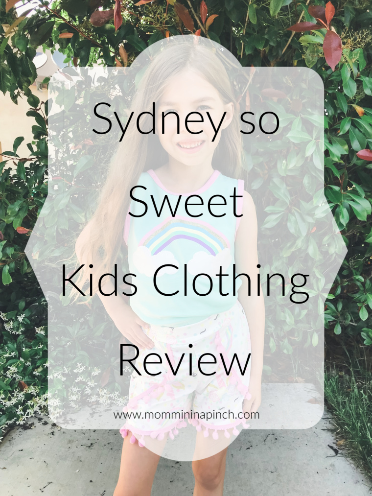 Kids Outfit review from Sydney so Sweet. www.mommininapinch.com