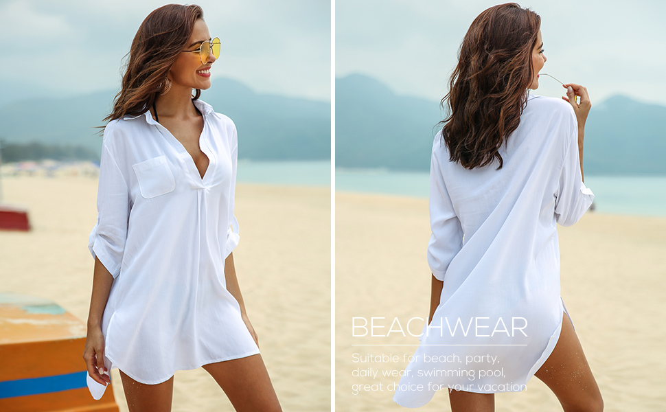 T- shirt bathing suit cover up- www.mommininapinch.com