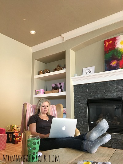 motherhood, Michelle in chair