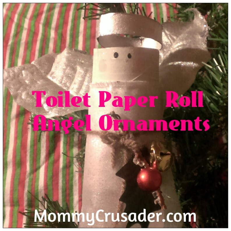 Toilet Paper Roll Angel Ornaments | MommyCrusader.com